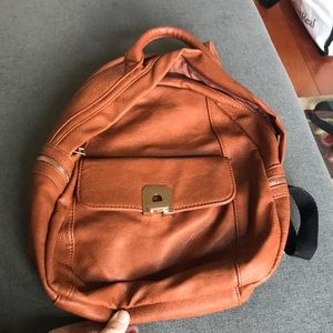 Faux leather Nordstrom brown backpack